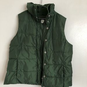 JCrew Hunter Green Puffer Vest